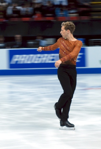 Adam Rippon preparing for a quadruple lutz