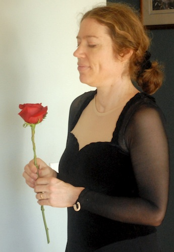 Mary with rose