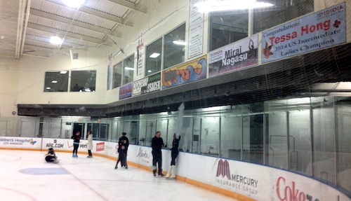 Toyota Sports Center showing banners for the top skaters