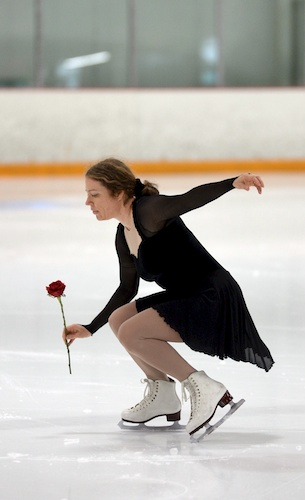 skating with a rose