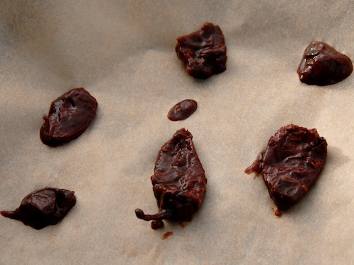 chipotle chilis ready to freeze on parchment paper