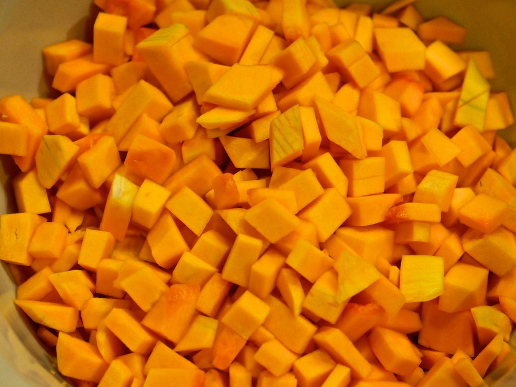 cubes of butternut squash
