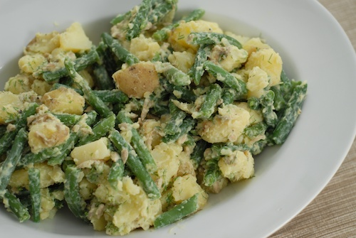 dilled green bean potato salad