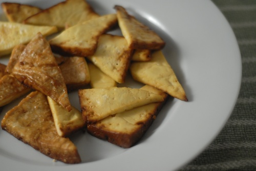 marinated baked ginger garlic tofu (1)