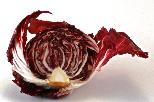 half a head of round radicchio