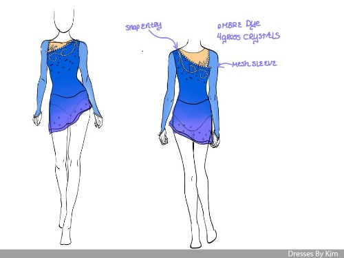 purple/blue skating dresses